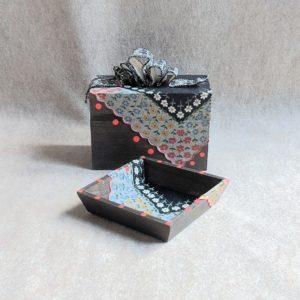 Repurposed Card Box and Vanity Tray Set