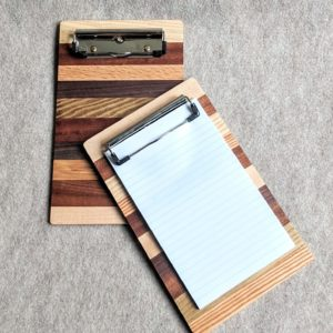 Repurposed Multi-Hardwood Clip Board