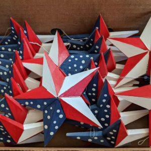 Mini Flag Star Ornament